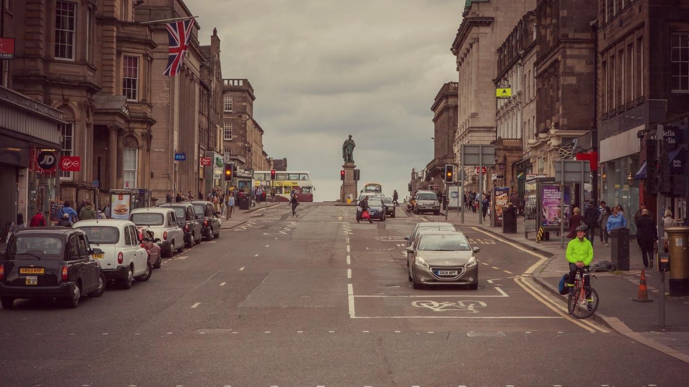 甦格蘭愛丁堡,十字路口看街景_圖1-16