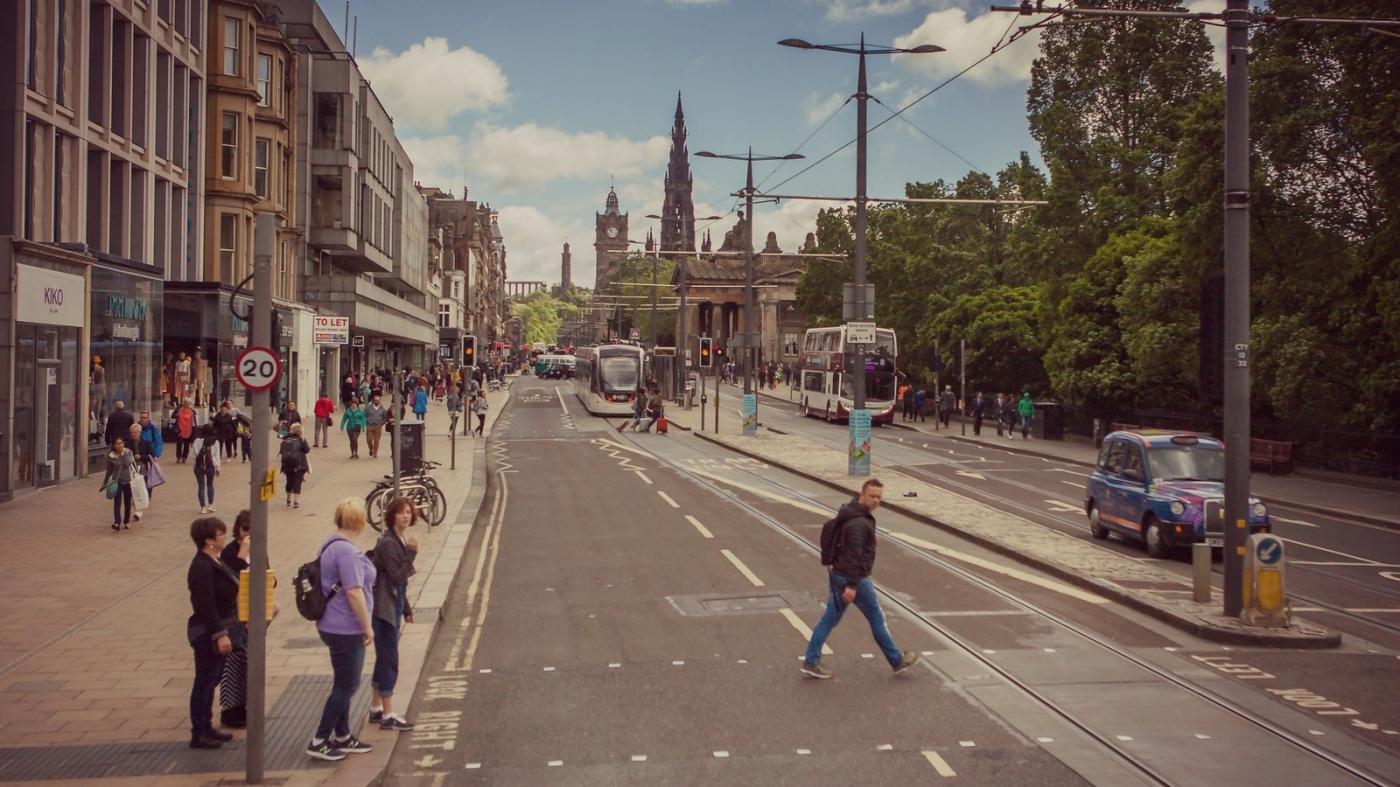 甦格蘭愛丁堡,十字路口看街景_圖1-18