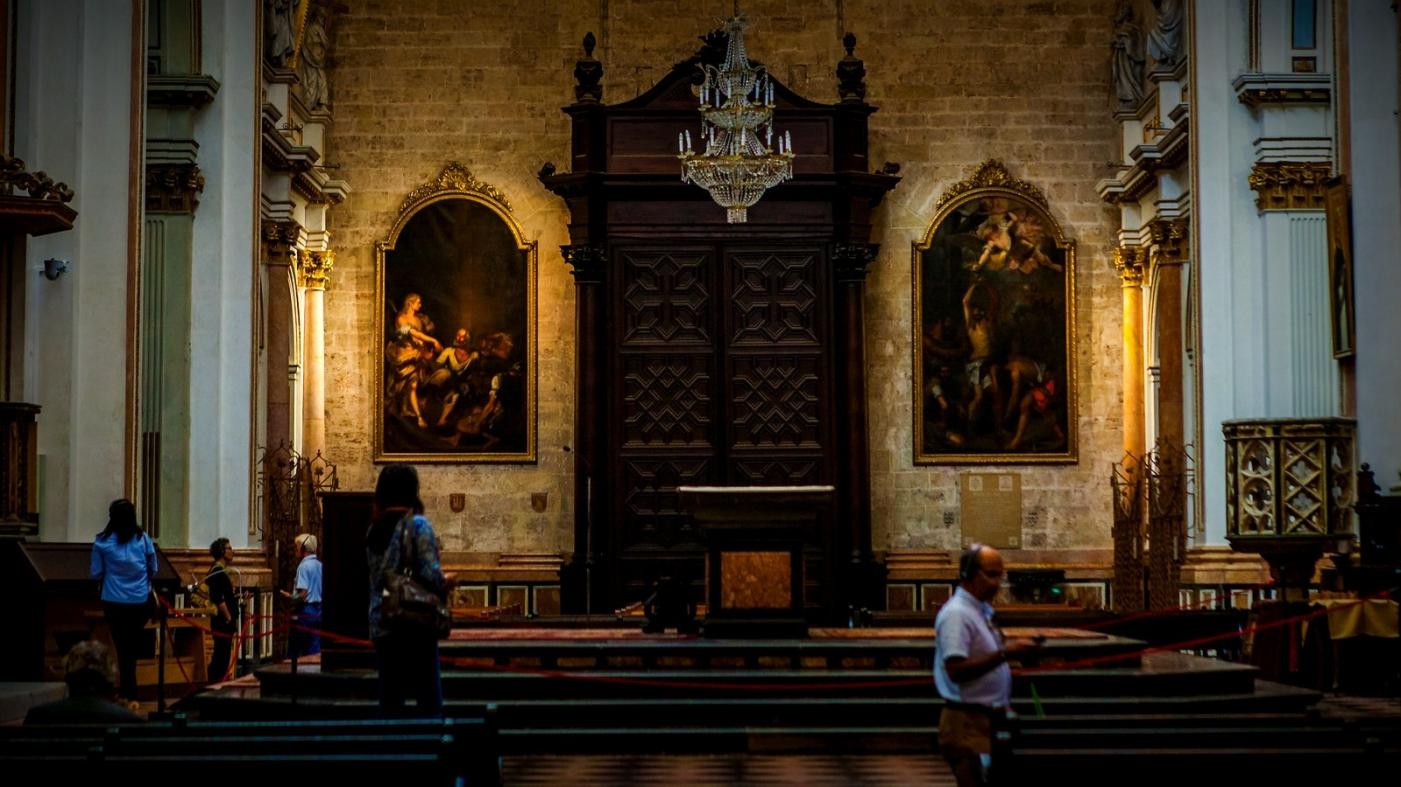 西班牙巴伦西亚主教堂,满眼的艺术精品_图1-2