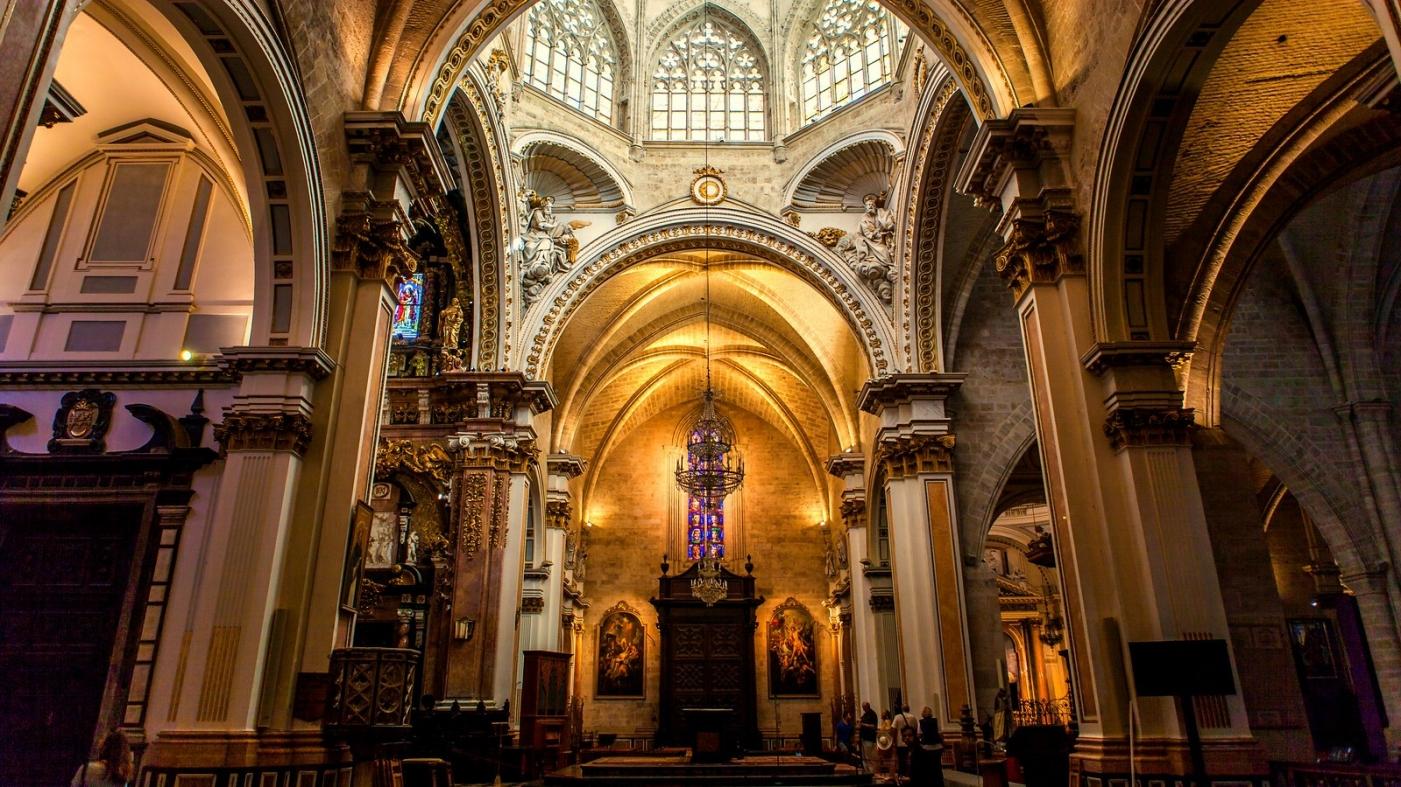 西班牙巴伦西亚主教堂,满眼的艺术精品_图1-1