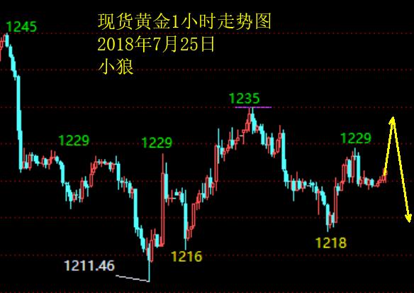 小狼夏喜俊:黄金1233下低位反复,不追涨杀跌_图1-1