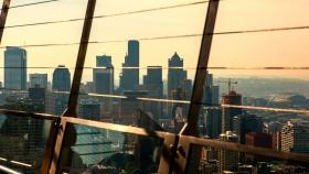 西雅图太空针塔,顶层的视野