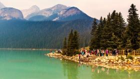 加拿大路易斯湖,全景饱眼福