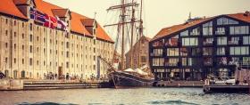 丹麦哥本哈根,两岸市景