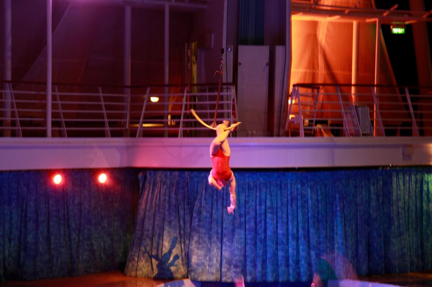 在海洋绿洲号游轮观看高台跳水秀_图1-16