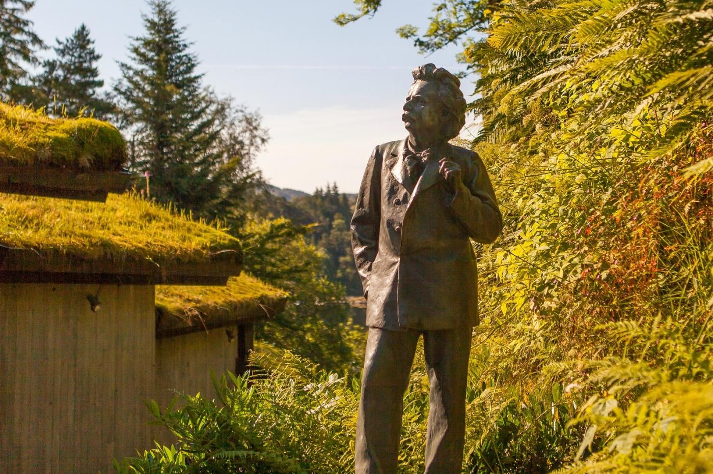 挪威作曲家爱德华-格里格,故居环境很漂亮_图1-1