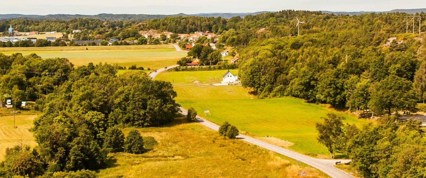 北欧风光,俯瞰小镇面貌_图1-3