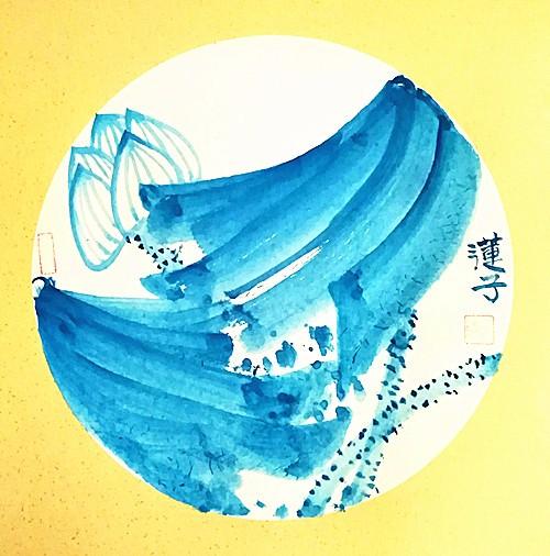 海天之荷,大蓝之美》实力派画家张炳瑞香作品欣赏_图1-1