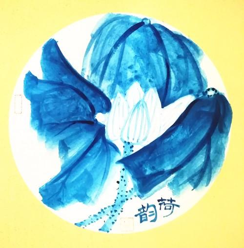 海天之荷,大蓝之美》实力派画家张炳瑞香作品欣赏_图1-2