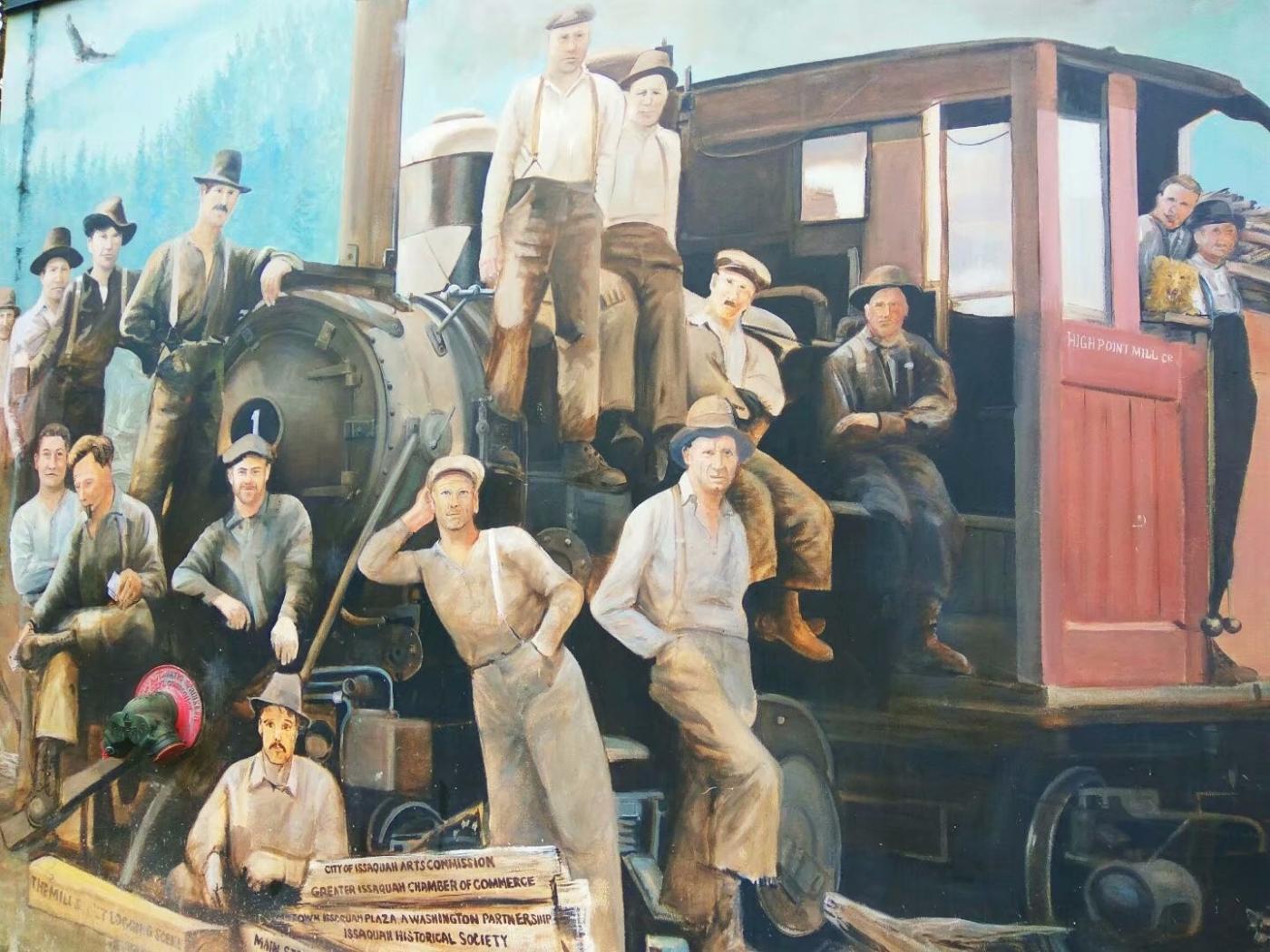 美国小镇街边壁画(图)_图1-4