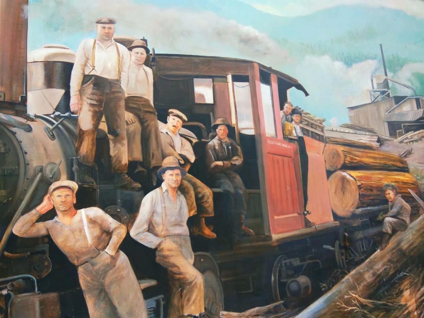 美国小镇街边壁画(图)_图1-6