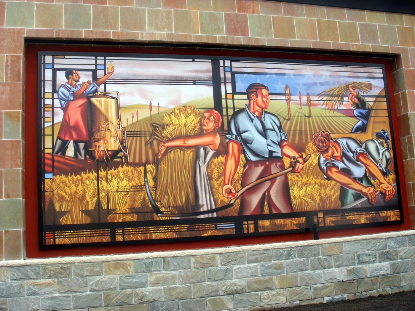 美国小镇街边壁画(图)_图1-2