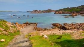 苏格兰美景,海边的礁石