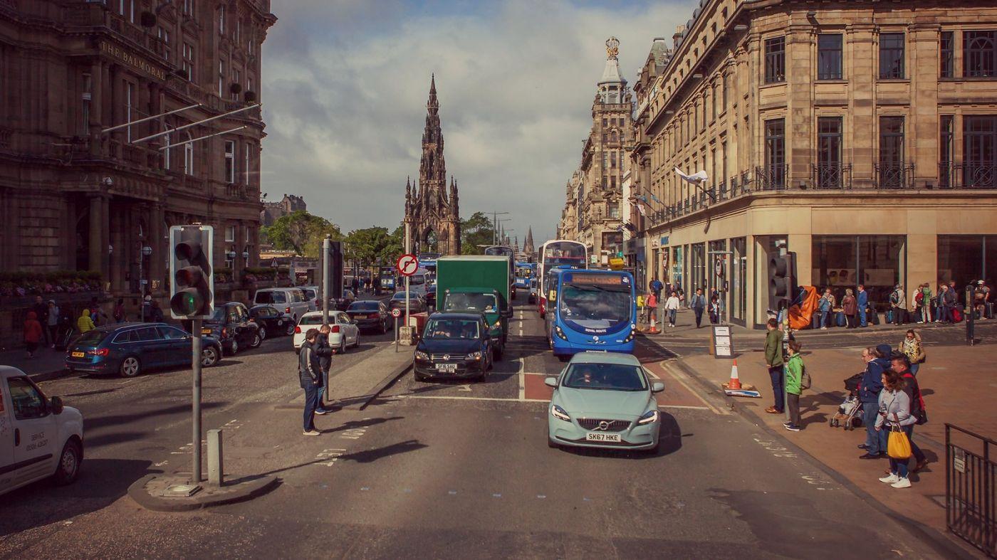 苏格兰爱丁堡,十字路口看风景_图1-11