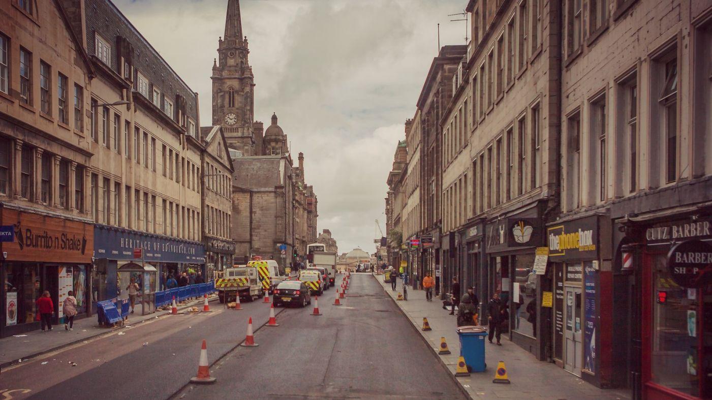 苏格兰爱丁堡,十字路口看风景_图1-7
