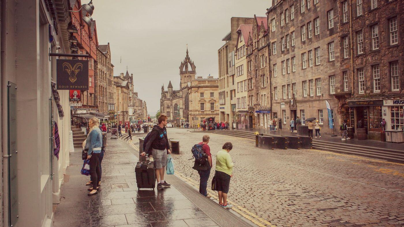 苏格兰爱丁堡,十字路口看风景_图1-12
