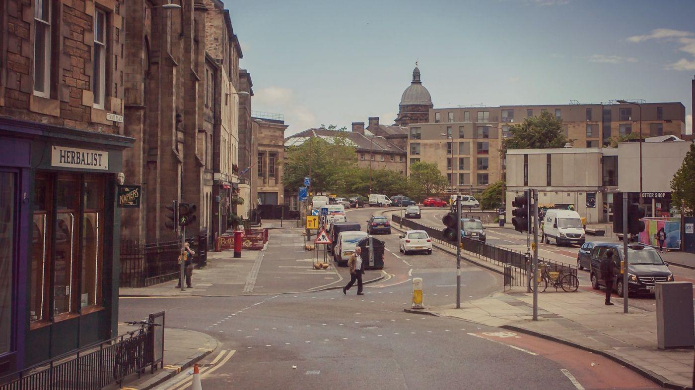 苏格兰爱丁堡,十字路口看风景_图1-8
