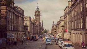 苏格兰爱丁堡,十字路口看风景