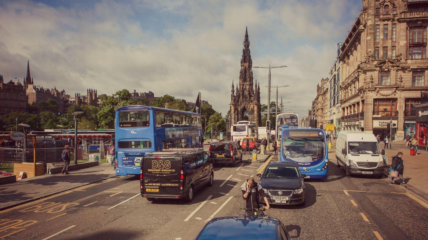 苏格兰爱丁堡,十字路口看风景_图1-2