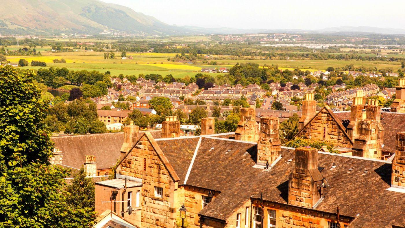 苏格兰斯特灵城堡,远处的风景_图1-4
