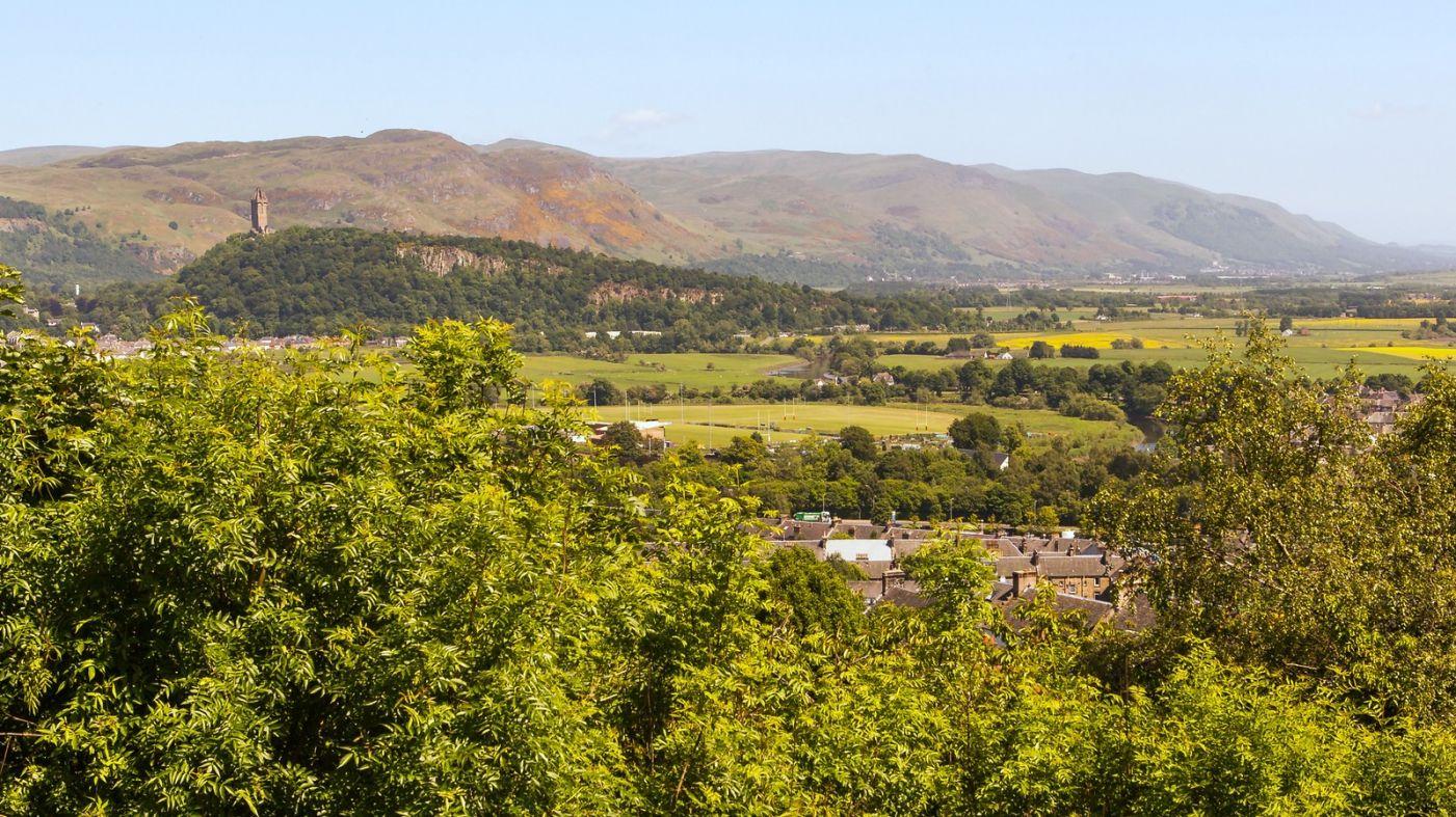 苏格兰斯特灵城堡,远处的风景_图1-6