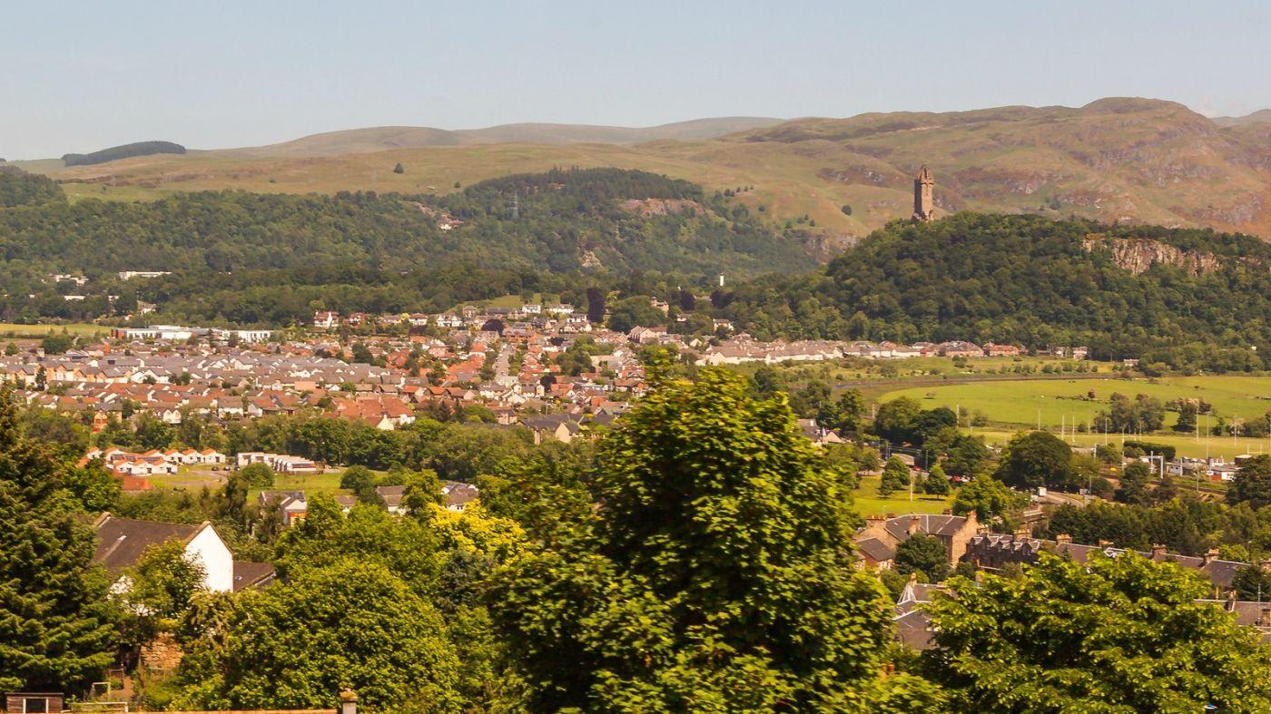 苏格兰斯特灵城堡,远处的风景_图1-7