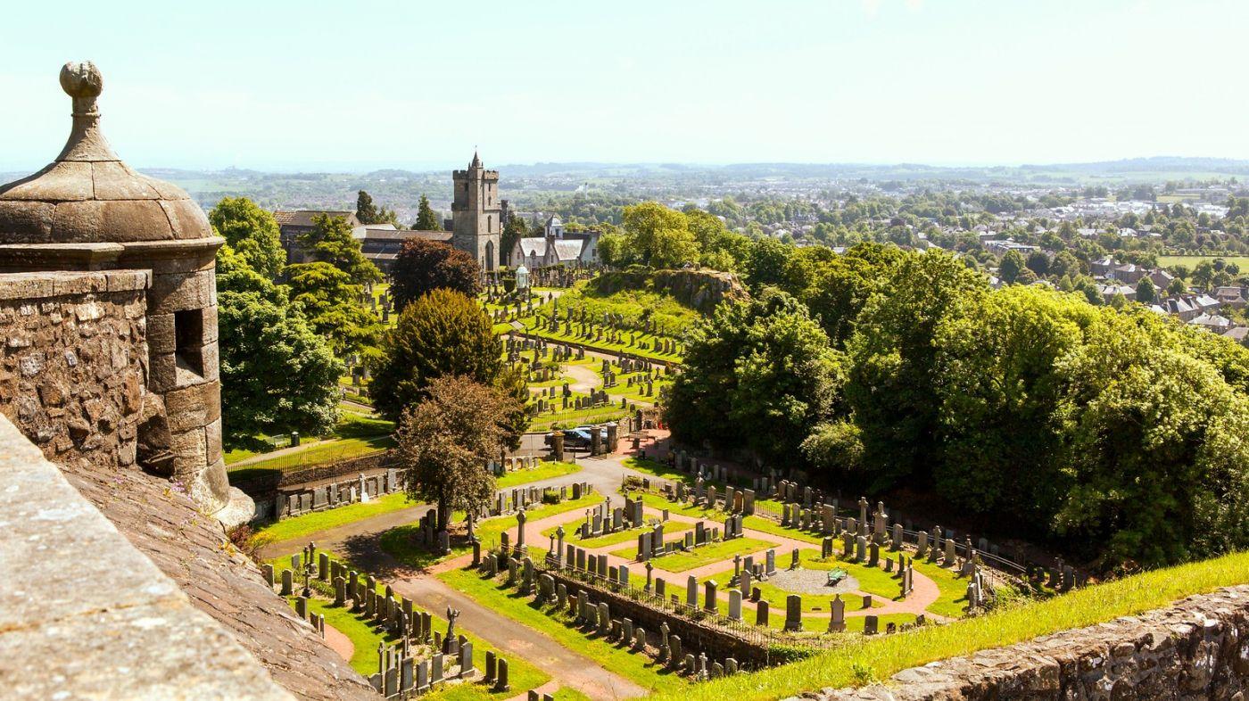 苏格兰斯特灵城堡,远处的风景_图1-8