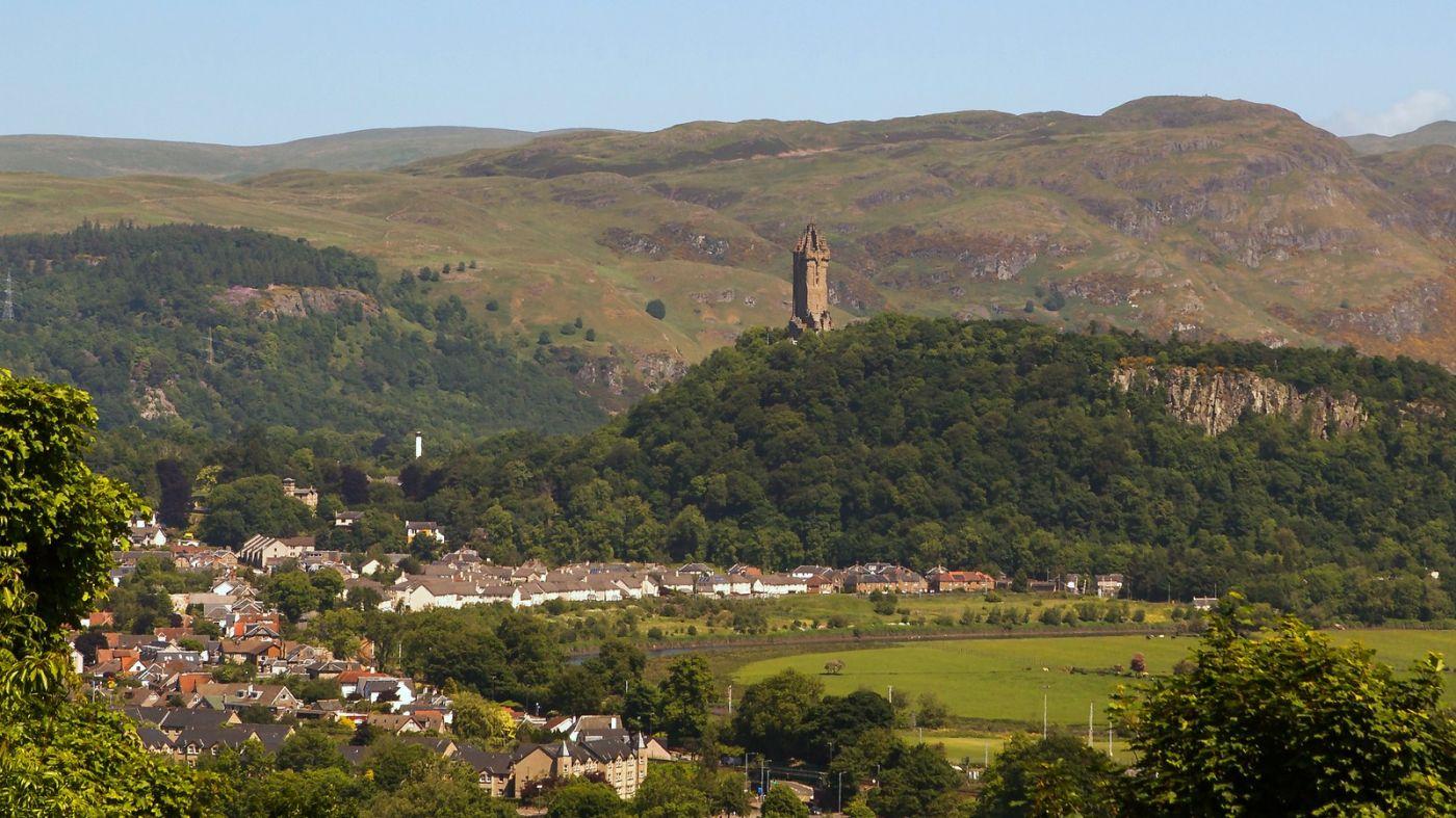 苏格兰斯特灵城堡,远处的风景_图1-9