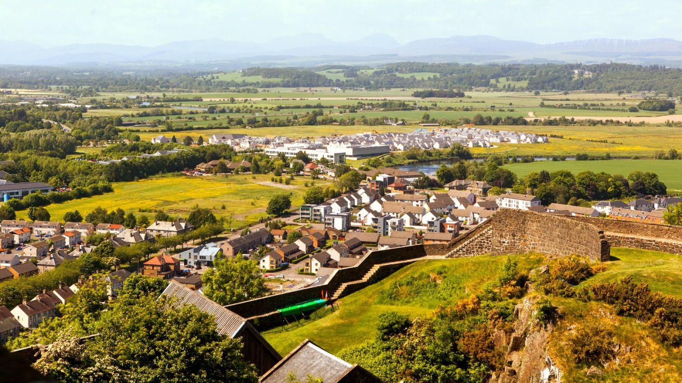苏格兰斯特灵城堡,远处的风景_图1-14