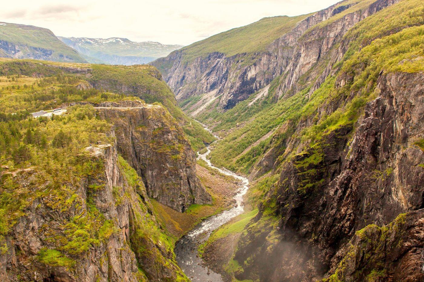 北欧风光,高山瀑布一泻千里_图1-3