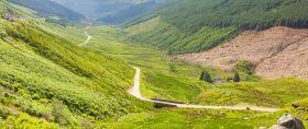 苏格兰美景,青山绿草小桥流水