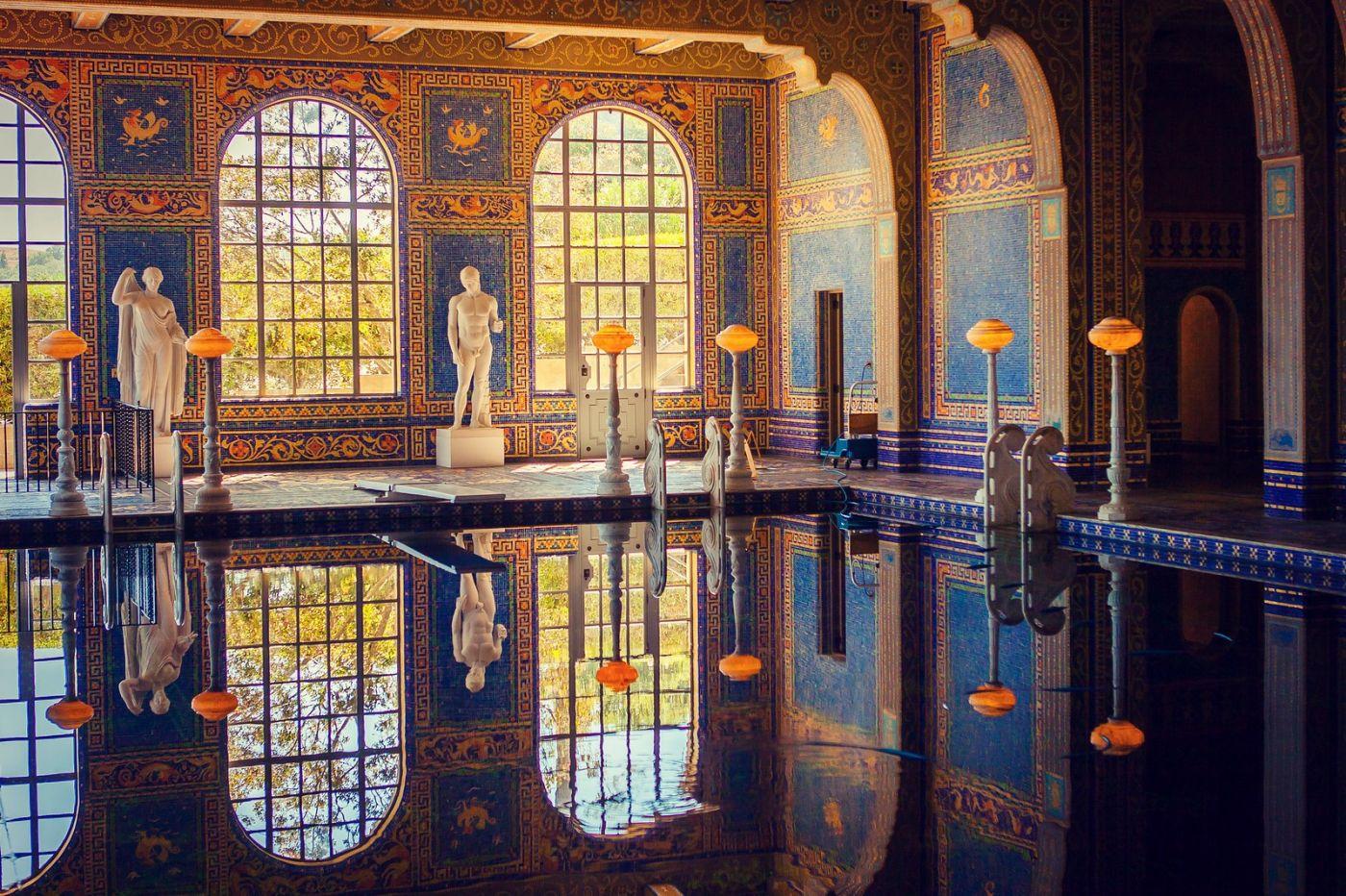 加州赫斯特城堡,主人的游泳池很开眼_图1-1