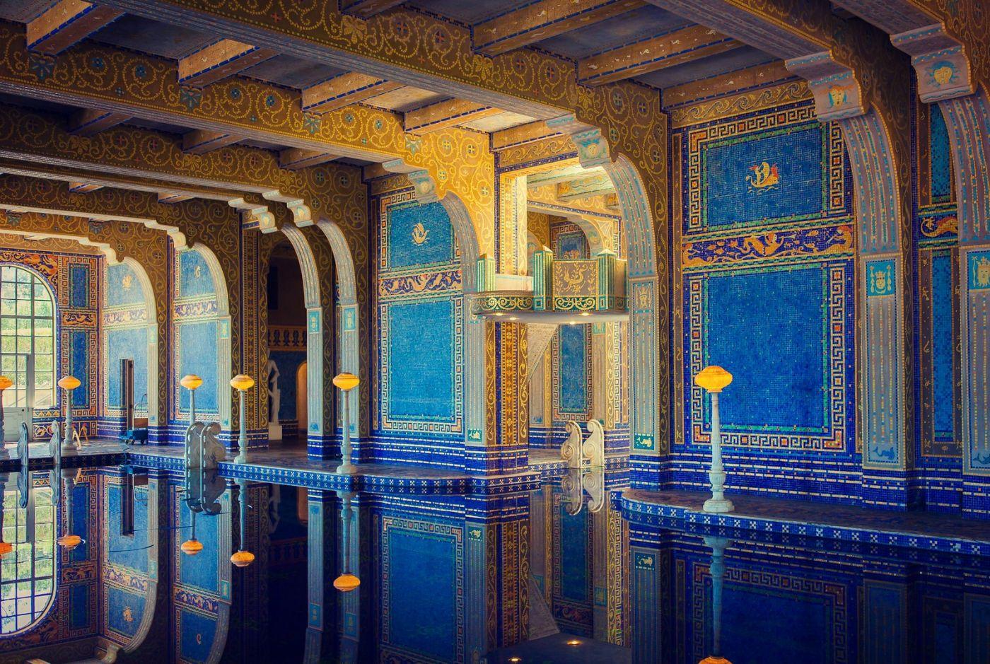 加州赫斯特城堡,主人的游泳池很开眼_图1-4