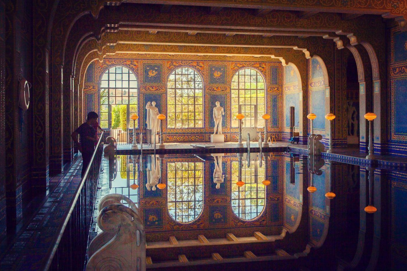 加州赫斯特城堡,主人的游泳池很开眼_图1-5