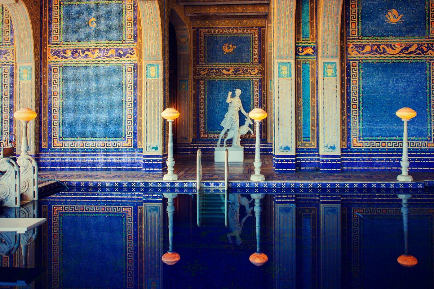 加州赫斯特城堡,主人的游泳池很开眼_图1-7