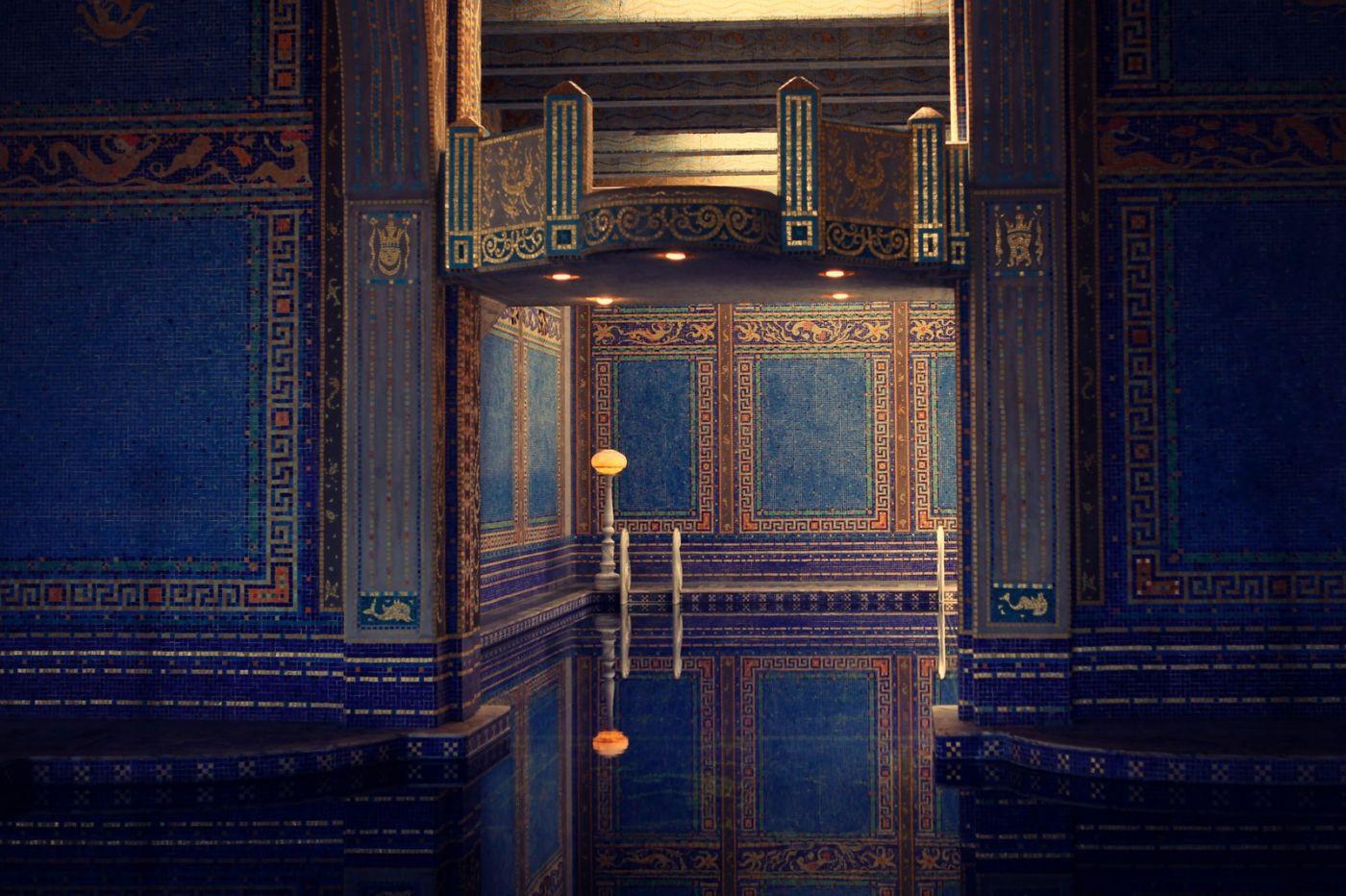 加州赫斯特城堡,主人的游泳池很开眼_图1-8