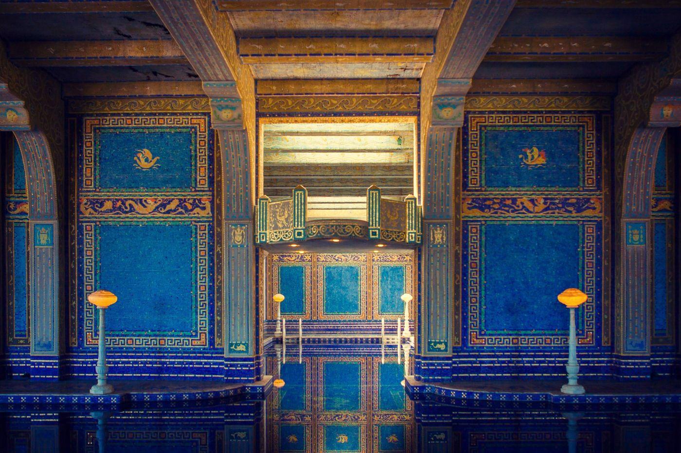 加州赫斯特城堡,主人的游泳池很开眼_图1-9