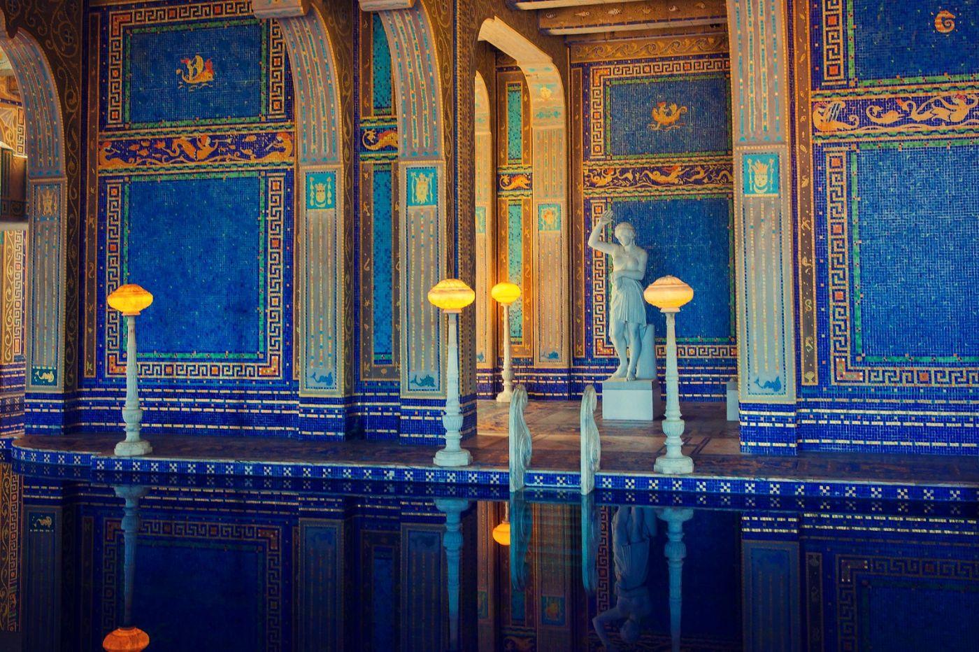 加州赫斯特城堡,主人的游泳池很开眼_图1-10