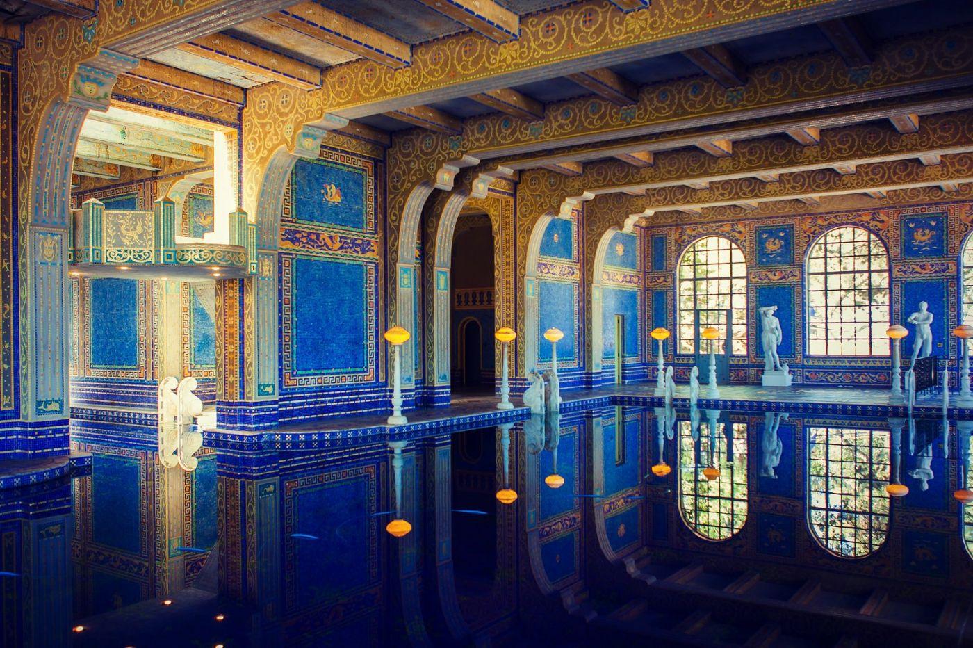 加州赫斯特城堡,主人的游泳池很开眼_图1-11
