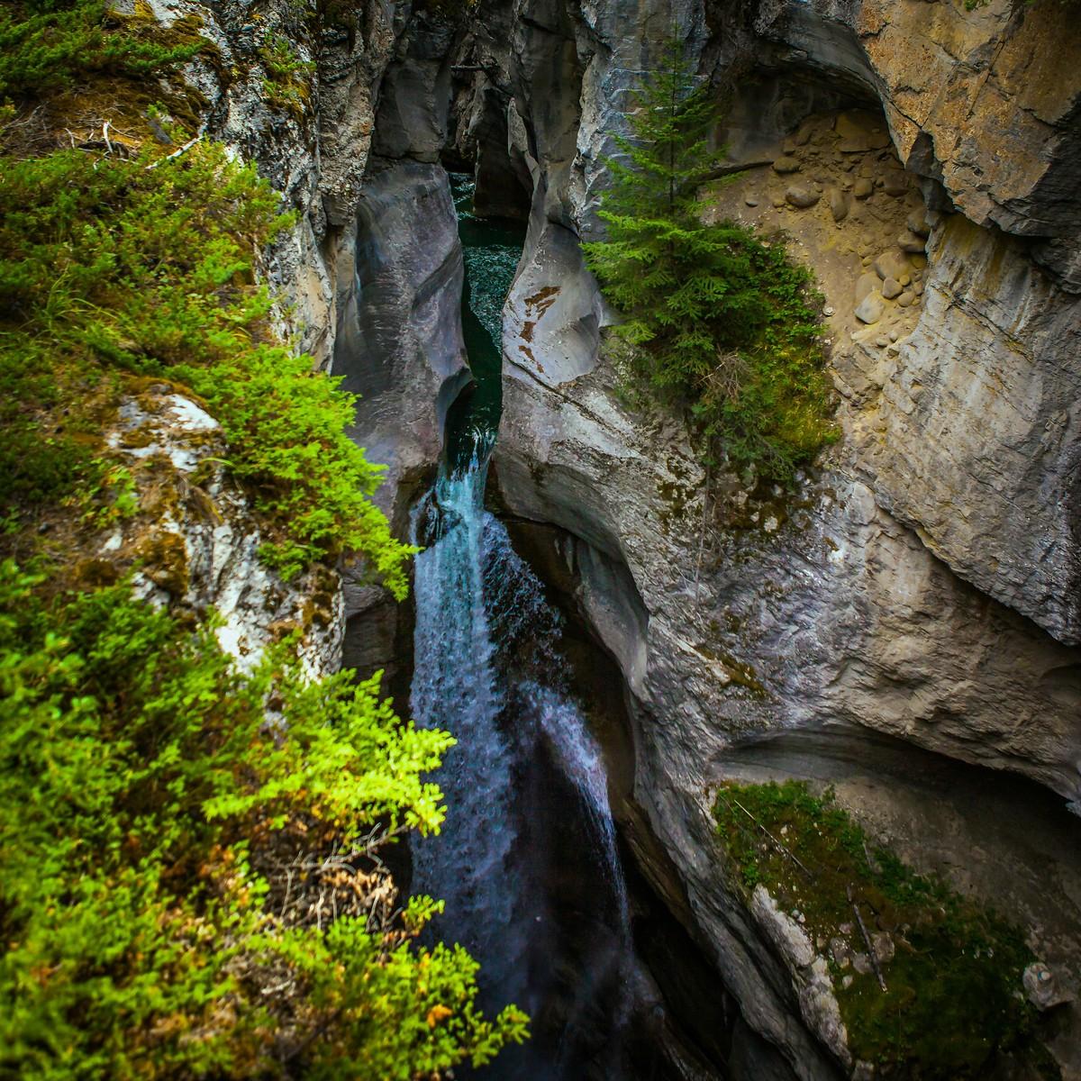 加拿大玛琳峡谷(Maligne Canyon),有一线天的感觉_图1-5