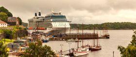 挪威奥塞罗,停靠的大游船很出风头