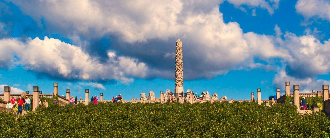 挪威维格兰雕塑公园,很著名的景点_图1-20