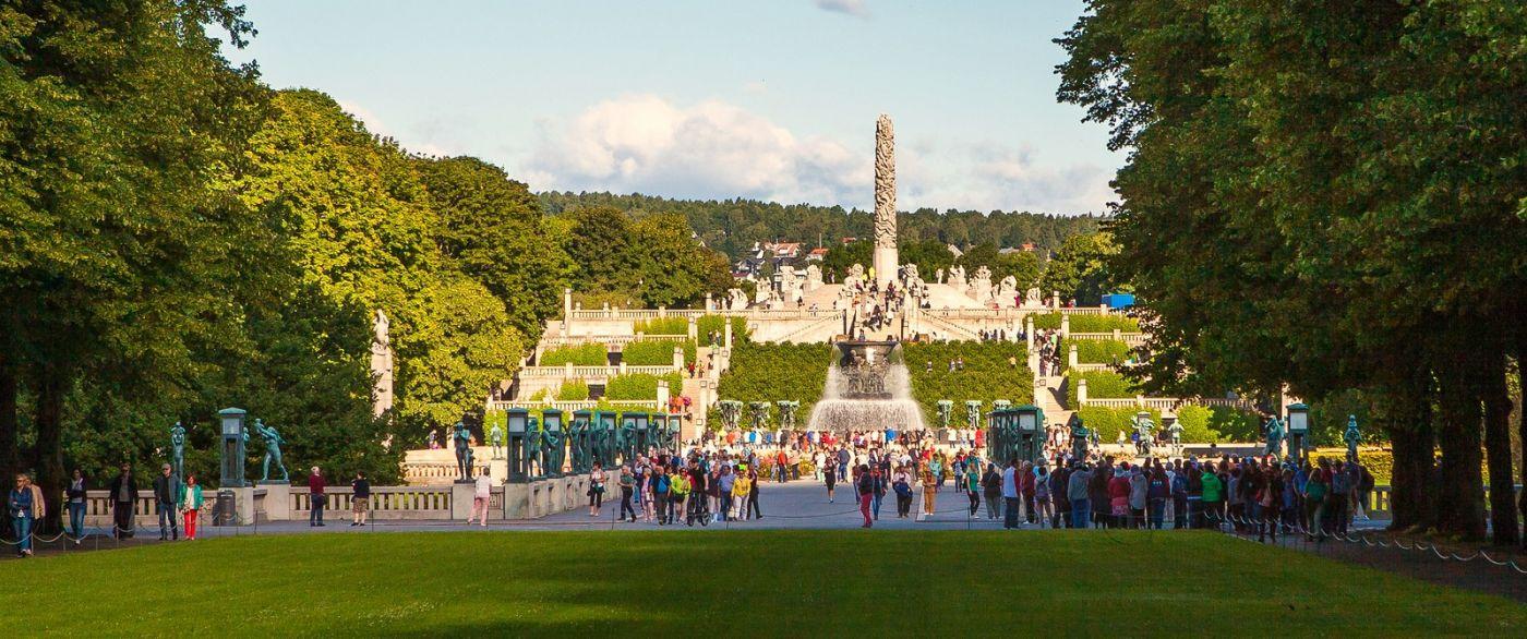 挪威维格兰雕塑公园,很著名的景点_图1-12