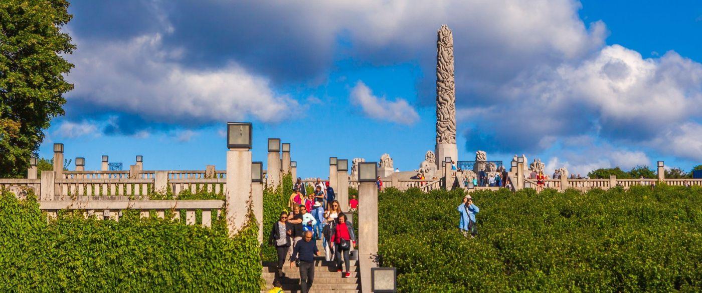 挪威维格兰雕塑公园,很著名的景点_图1-14