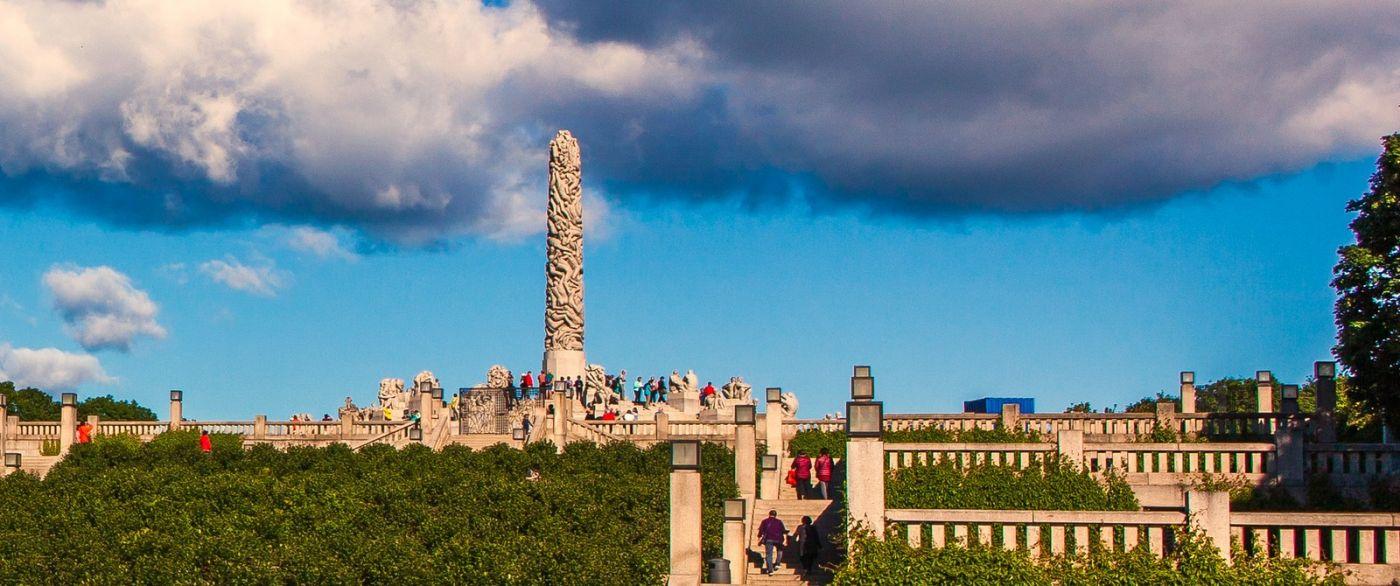 挪威维格兰雕塑公园,很著名的景点_图1-15