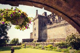 苏格兰斯特灵城堡,建筑风格很突出