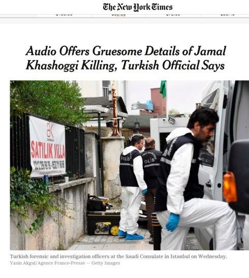 """高娓娓:美国媒体对沙特记者遇害案的反应,华盛顿邮报刊登白页标为""""消失的声音"""" ..._图1-6"""