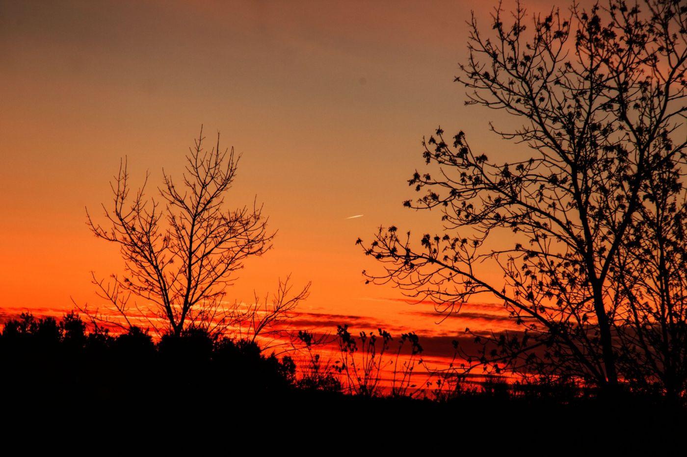 在赴加拿大蒙特利尔观看枫叶的观光火车上拍摄夕阳,别有情趣! ..._图1-1