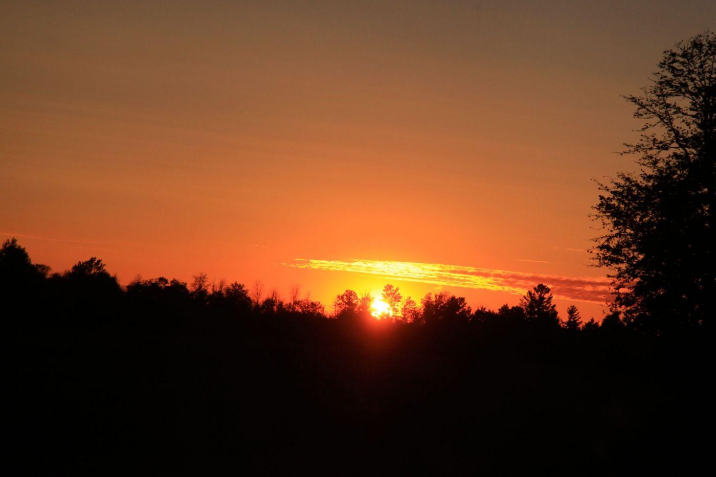 在赴加拿大蒙特利尔观看枫叶的观光火车上拍摄夕阳,别有情趣! ..._图1-13