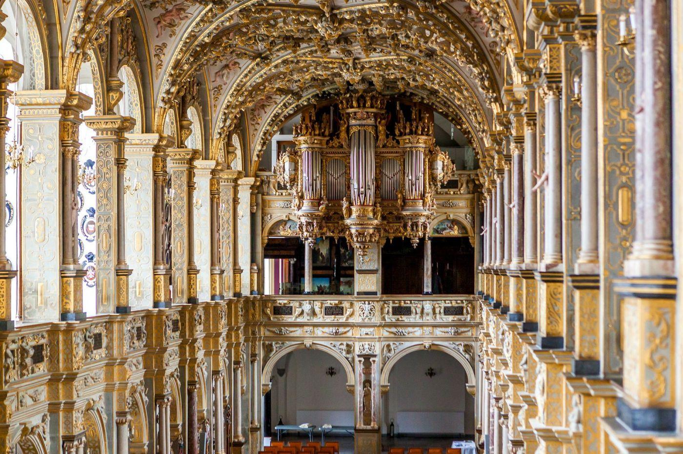 丹麦腓特烈堡城堡,很惊叹主厅吊顶_图1-5